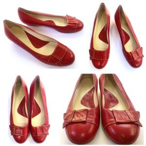 Faconnable Like New Red Ballet Flats from Italy